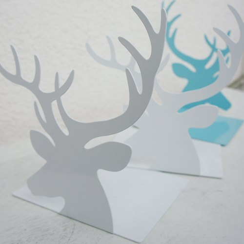 Little things} deer forest department bookend deer bookshelf (snow white / tiffany blue, 2 in one)