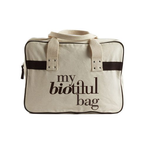 France my biotiful bag organic cotton Boston Bag-Brown