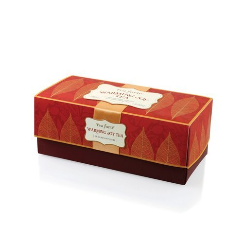 Qiu Feng Chung heart warm tea gift set of 20 tea bags into silk Ribbon box - Warming Joy Teas