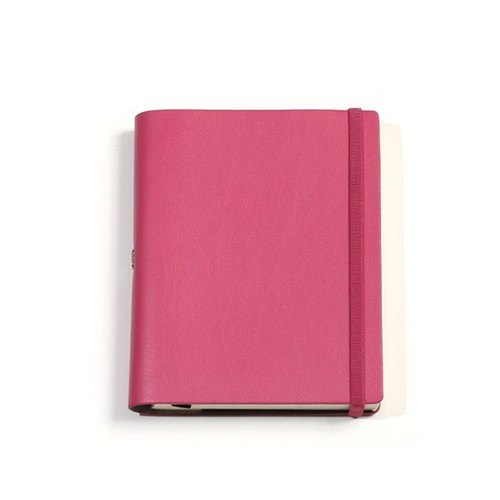 [Spot] No plain custom leather notebook A5 <Pink>