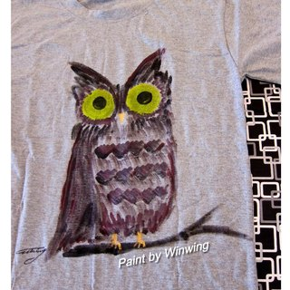 Hand-painted clothing Owl Dad -Winwing
