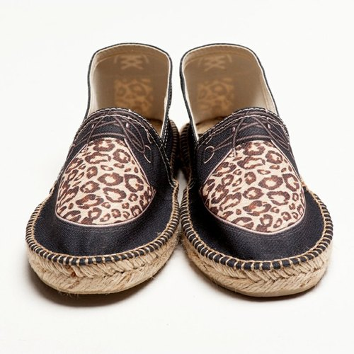 Suede Leopard print shoes fashion design simulation
