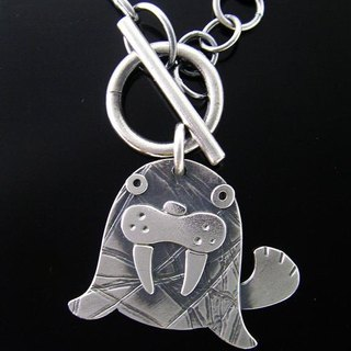 Ark Series --- Sealion Silver Necklace