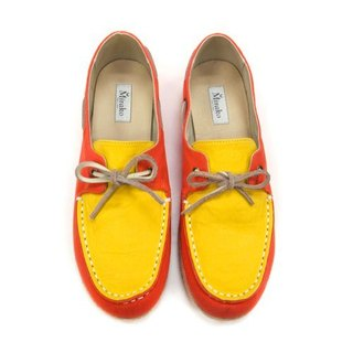 Espadrille Boat Shoes M1106 OrangeYellow