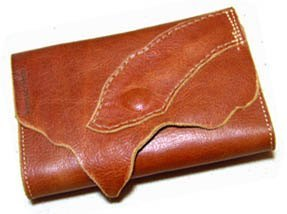 Pre Japanese silverware Kensscratch handmade leather fiscal cloth / Name rakuda-medium-wallet