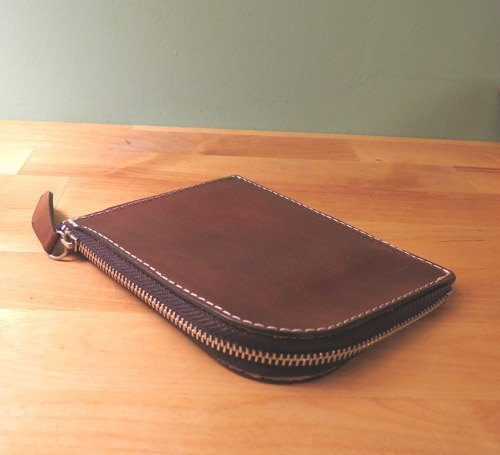 Hand-dyed cow scalp wallet / purse / card holder Pao / Wallet Pao