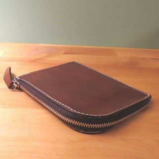 Hand-stained cow scalp purse / purse / clip 鞄 / wallet 鞄