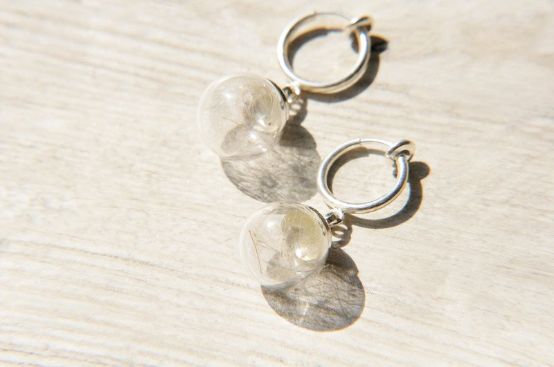Valentine's Day gift / Forest Department / plain glass ball earrings - Dandelion Forest (cramping / ear pin)