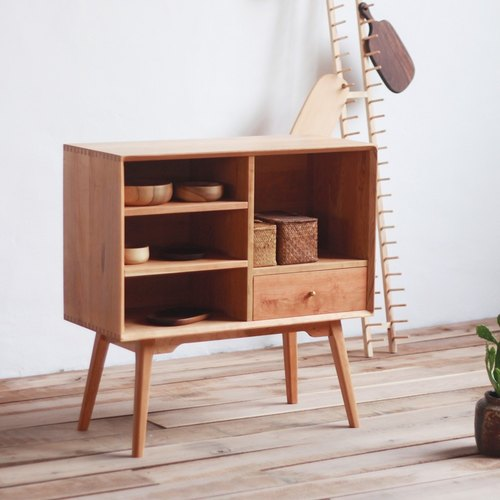 Moment of wood are - Xi Kobo - Walnut / Cherry - wood small bookcases, magazine cabinets, side cabinets, bedside cabinet