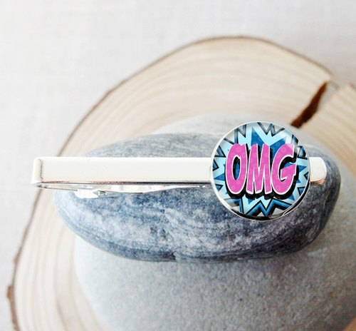 OMG - tie clip men's fashion accessories ︱ ︱ ︱ father birthday gift groom accessories
