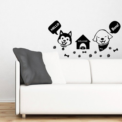 Smart Design Seamless wall stickers creative ◆ Gromit WELCOME 8 color options