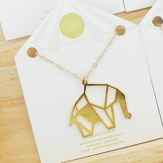 Elephant, Origami Necklace, Animal Necklace, Animal Lover, Animal gifts