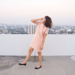 Valentine's Day pink ribbon dress (Bow Back Dress)