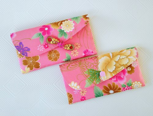 ● recruit peach flowers open purple red envelopes popular group / female money bag / book bag (Limited)