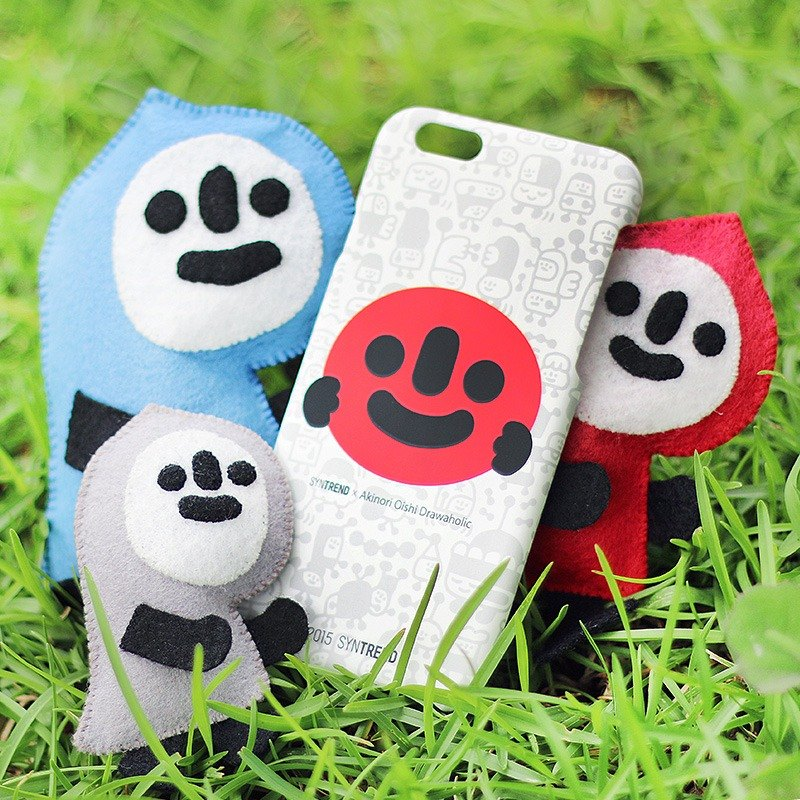 iPhone 6 / 6s Mobile Shell 4.7 inch [! Go Smiling iPhone Case Smiling departure - White hee hee]