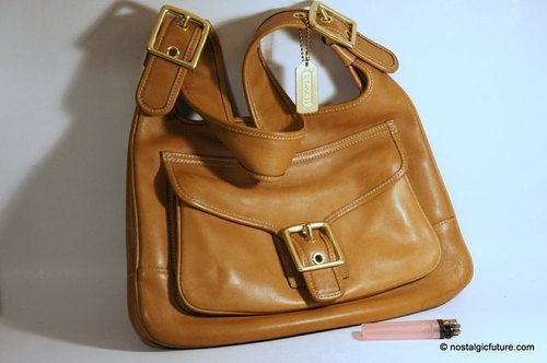 Vintage Handbag Classic Gold COACH camel leather shoulder bag