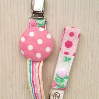 Handmade pacifier chain (toy chain) - little pink section