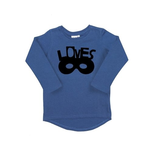 2014 Fall Winter Beau Loves Loves mask blue cotton long-sleeved T-shirt Limited