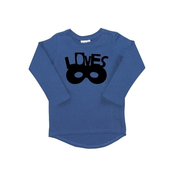 2014 Autumn Winter Beau Loves Blue Loves Mask Limited Cotton Long Sleeve Top