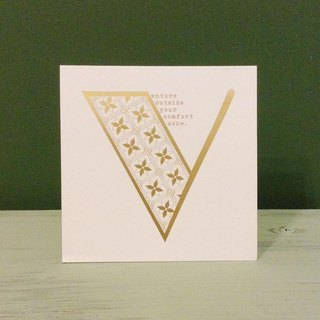 Bronzing letter card envelope sticker set -V