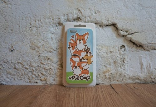 [XUAN] pulp cabinet Pacase-iPhone 5 / 5S- small Corgi Stacker (illustration small Peng sister works)