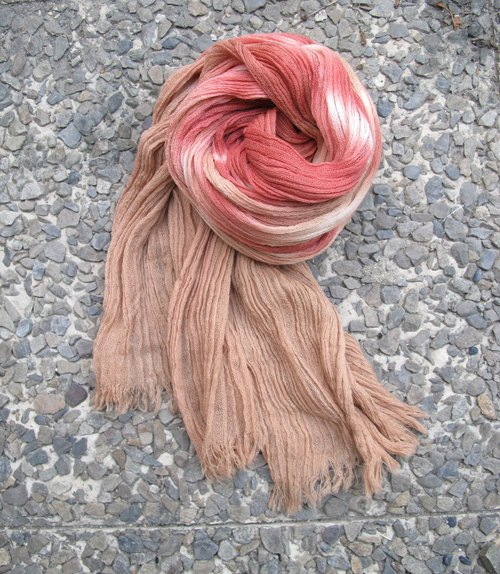 Vegetable dyes wool scarves - mystique