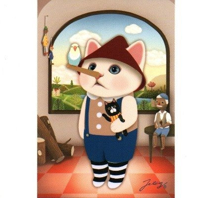 JETOY, Choo Choo sweet cat postcard second generation _Pinocchio (J1407133)