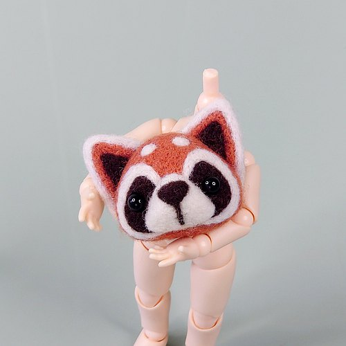 WhizzzPace - wool felt retractable rope red panda Neckwear #