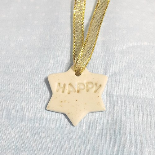 Party @ B8 pitting star happy porcelain pendant made in Hong Kong