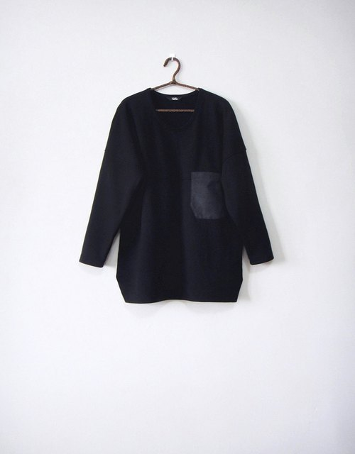 [Addition X Addition_ hand made. Geometry / ladder / black. coat】