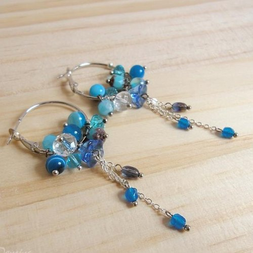 {KPC0018} aqua fantasy rainy months Earrings