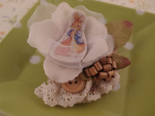 """Garden Series"" bunny children hairpin, necklace dual-use accessories"
