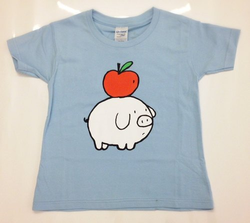 [Pig] adult T-shirt Fruit