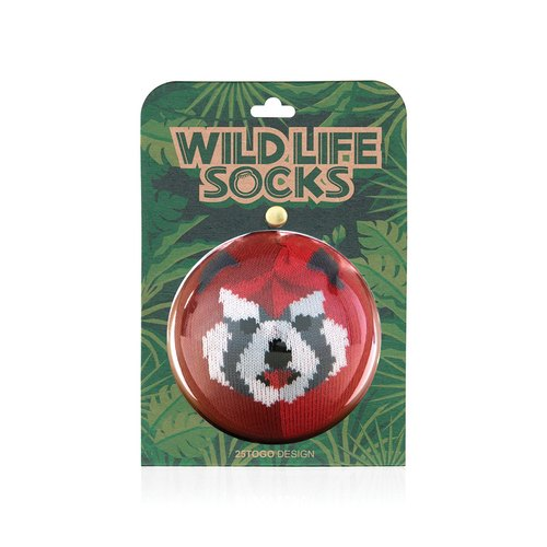 WILDLIFE SOCKS_ wildlife socks _ Raccoon