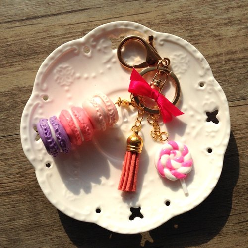 DWL hand for [sisters tea] series - Macaron Bag Strap / keychain + Strap / Mobile Strap Pendant / car ornaments