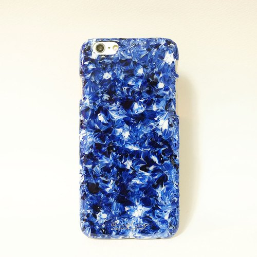 Pastoral Series l NAVY BLUE l hand-painted oil painting style Phone Case