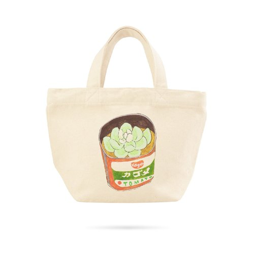 ▷ Umade ◀ Day Yao day 02 with succulents make a own balcony A [thick canvas bag - Small Tote Tote Bag- carry out a small bag - handbag - natural cotton handmade - artists] Pony Pony Pei Pei