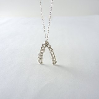 Sliver 925 Wishbone Lace Necklace, Bridesmaids Gifts, Birthday gift