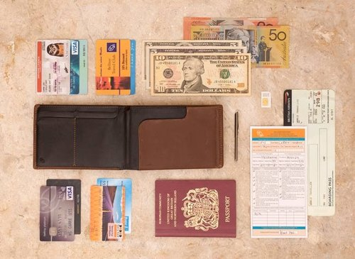 Australia Bellroy Travel Wallet Travel passport special postscript leather wallet (Mocha Mocha coffee) By plain-me