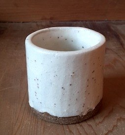 Powdery lead terracotta pot (wide-mouth)
