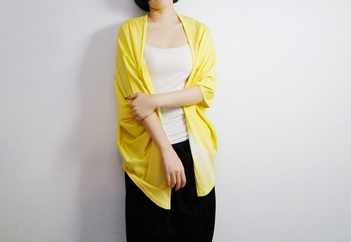 I. A. N Design hill gardenia fruit gradient dyed special edition sleeves jacket Organic Cotton