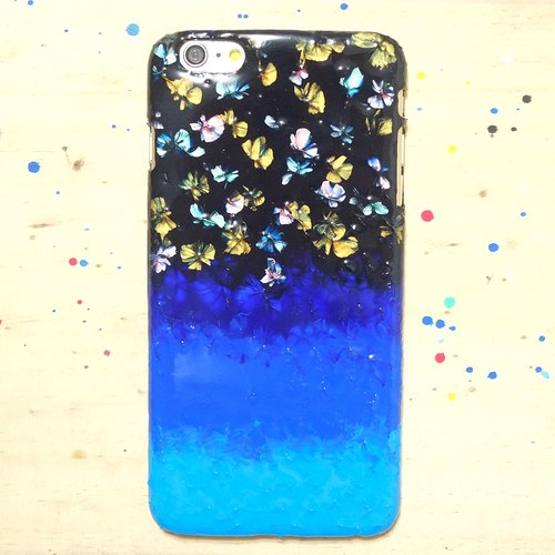 Hand-painted oil fireworks festival ll wind Phone Case