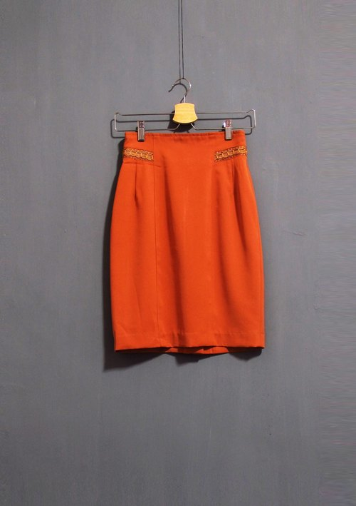Wahr_orange  wrap skirt