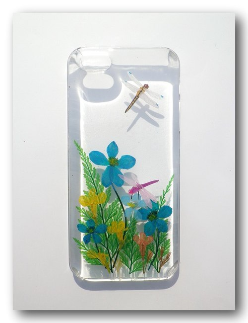 Anny's workshop hand-made pressed flower phone case for iphone 5 / 5S and iphoneSE, dragonfly