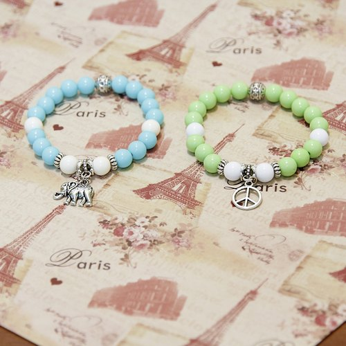 Candy / Forest lucky bracelet