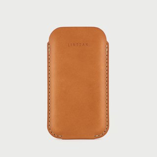 iPhone case holster -- camel yellow (bare machine)