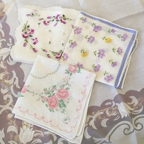 American retro floral handkerchief small home decoration / decoration / gifts