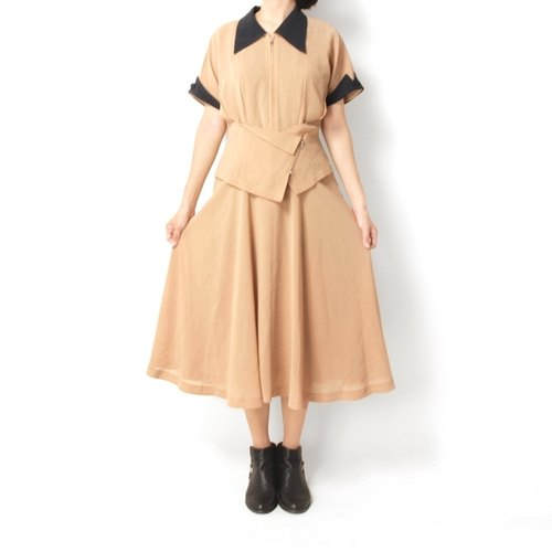 │moderato│ Nippon stitching retro vintage designer dress cut │ Japanese girl. Individuality girlfriend .VINTAGE. Cute