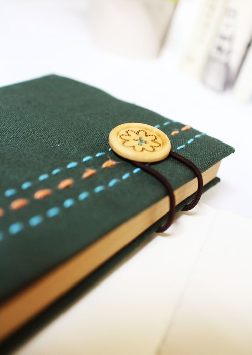 Hand clothes for the book [notebook] Qiushuiyiren dark green canvas subsection (Big = A5)