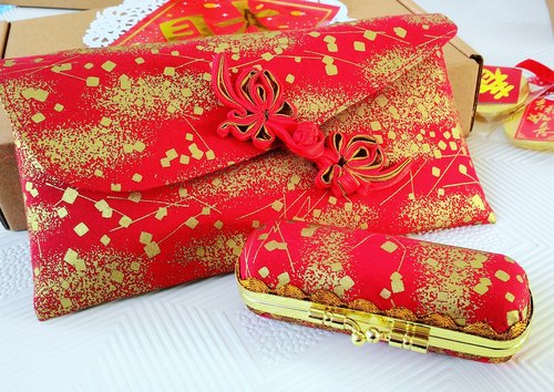 Jincan Lucky red envelopes seal box set / female money bag / book bag (Limited)